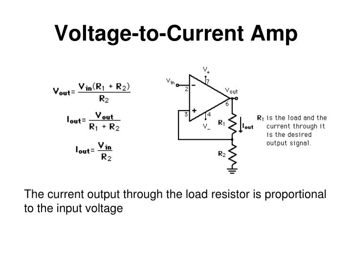 Voltage-to-Current Amp