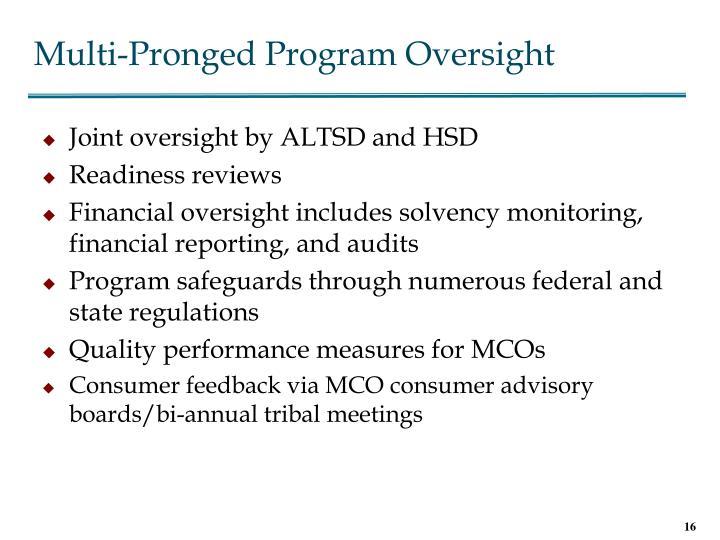 Multi-Pronged Program Oversight