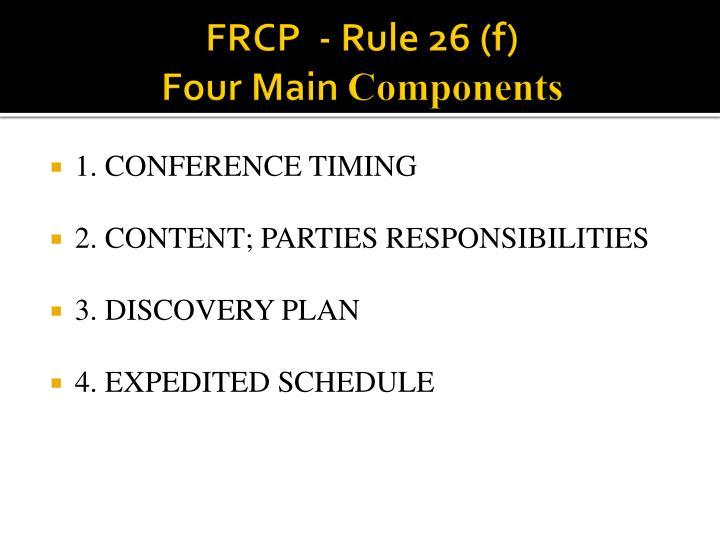 FRCP  - Rule 26 (f)