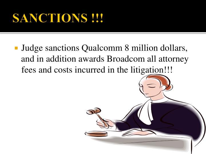 SANCTIONS !!!