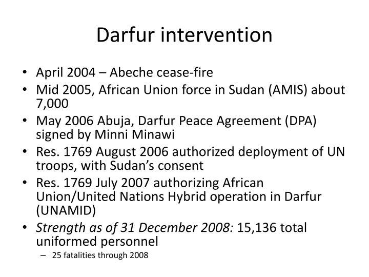 Darfur intervention