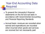 year end accounting data required