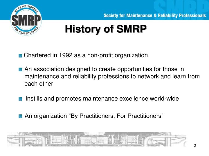 History of SMRP