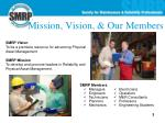 mission vision our members