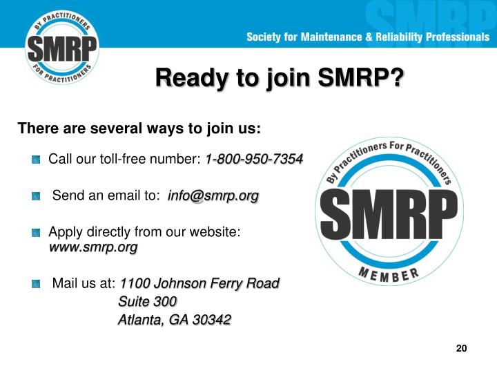 Ready to join SMRP?