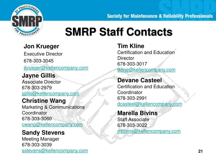 SMRP Staff Contacts