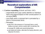 theoretical explanations of mr comprehension