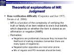 theoretical explanations of mr judgment