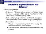 theoretical explanations of mr retrieval1