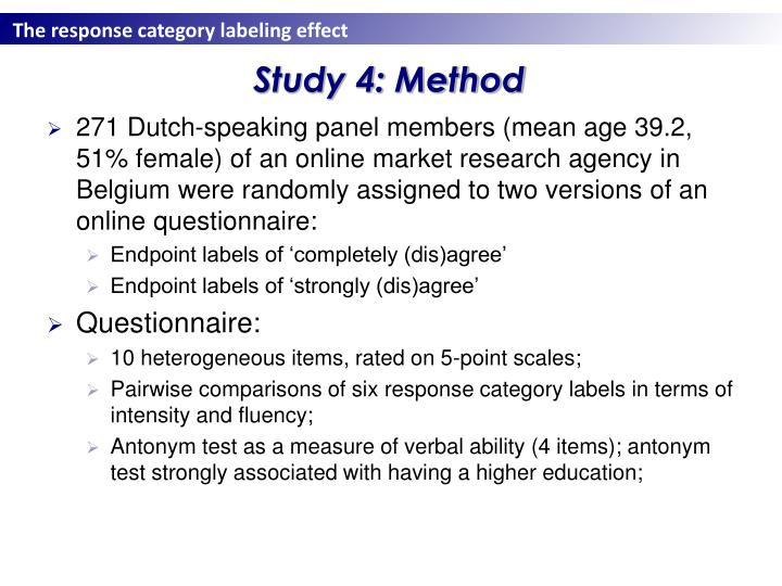 Study 4: Method