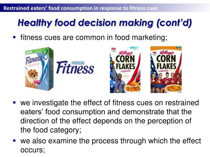Healthy food decision