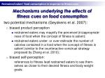 mechanisms underlying the effects of fitness cues on food consumption
