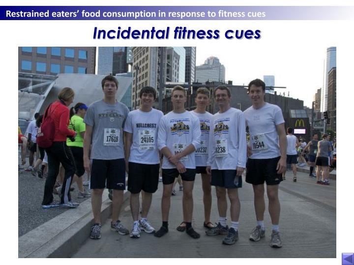 Incidental fitness cues