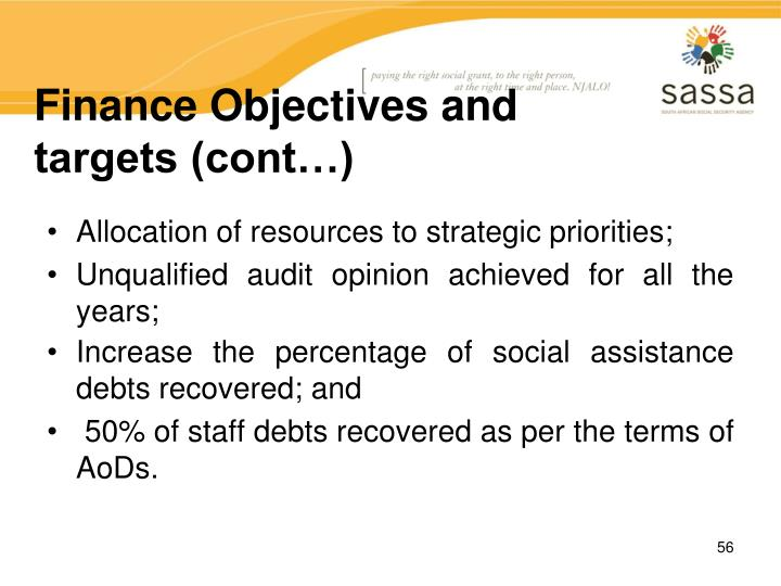 Finance Objectives and