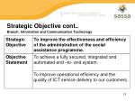 strategic objective cont