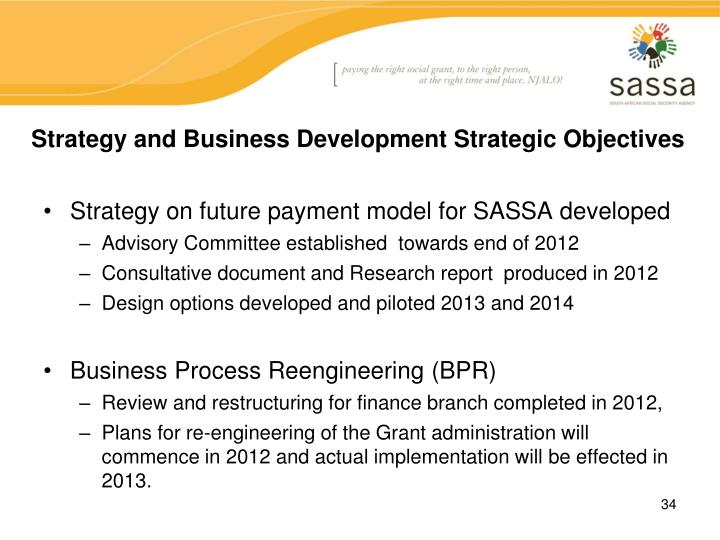 Strategy and Business Development Strategic Objectives