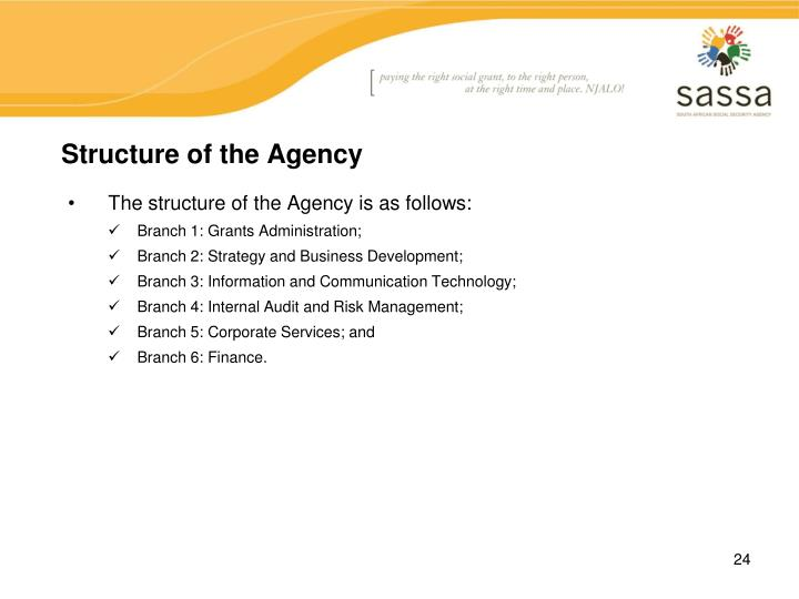 Structure of the Agency