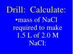 drill calculate