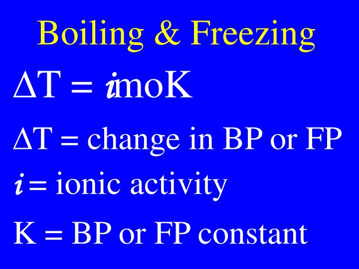 Boiling & Freezing