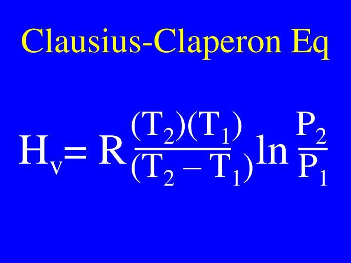 Clausius-Claperon Eq