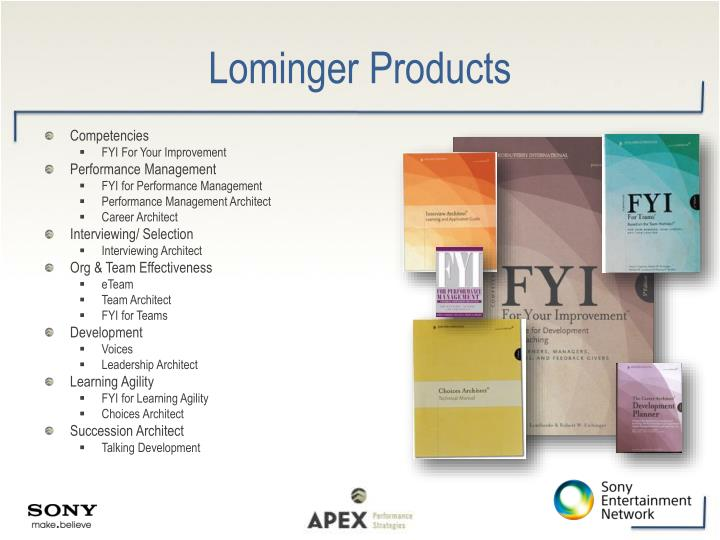 Lominger Products