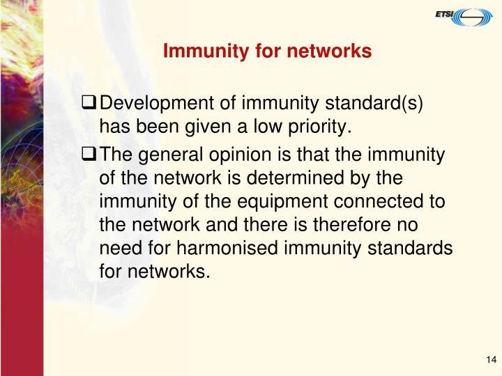 Immunity for networks