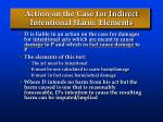 action on the case for indirect intentional harm elements