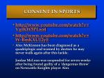 consent in sports