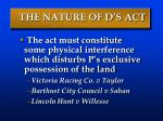 the nature of d s act