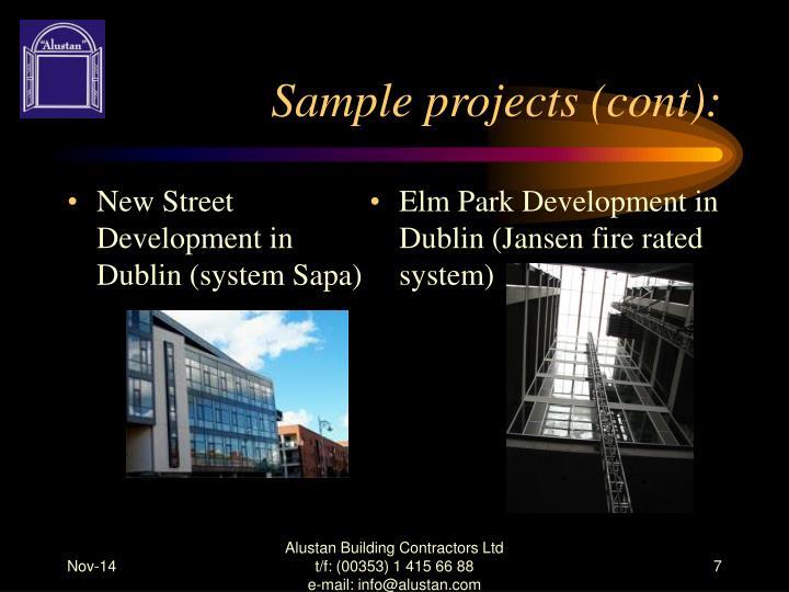New Street Development in Dublin (system Sapa)