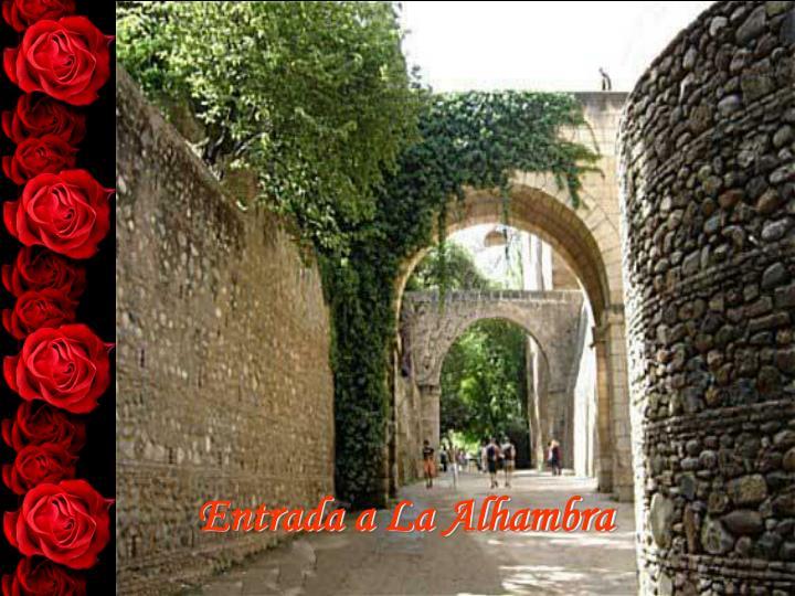 Entrada a La Alhambra