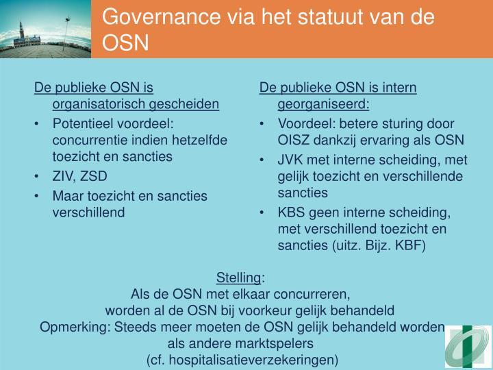 De publieke OSN is organisatorisch gescheiden
