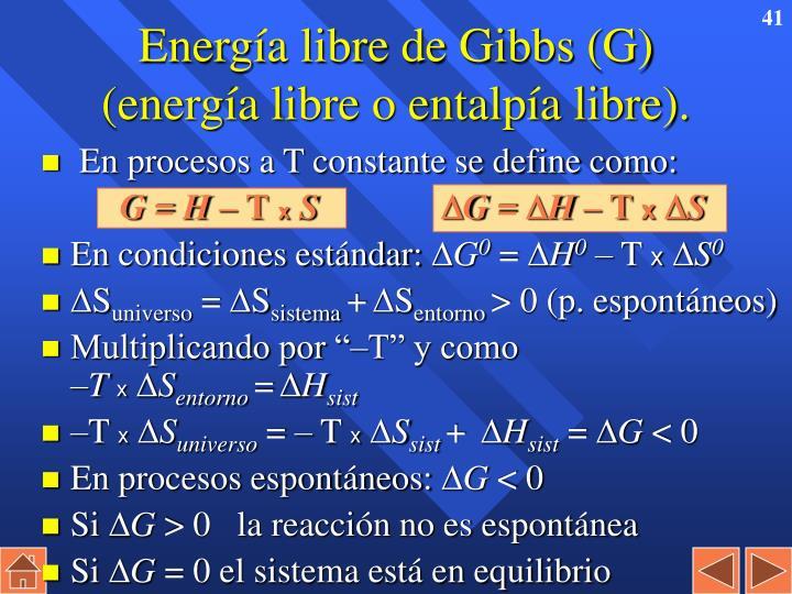 Energía libre de Gibbs (