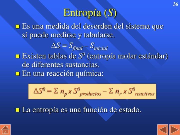 Entropía (