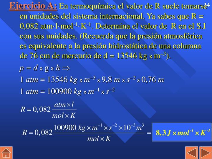 Ejercicio A: