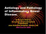 aetiology and pathology of inflammatory bowel disease