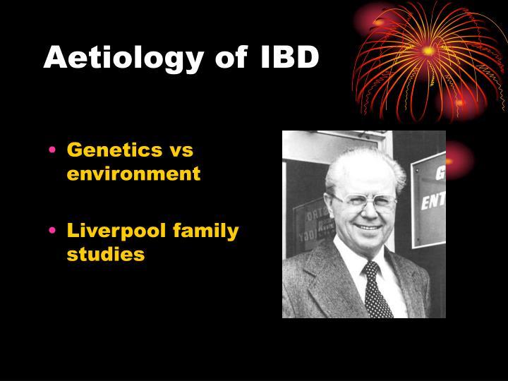 Aetiology of IBD