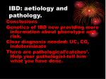 ibd aetiology and pathology