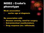 nod2 crohn s phenotype