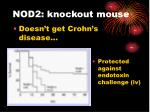 nod2 knockout mouse