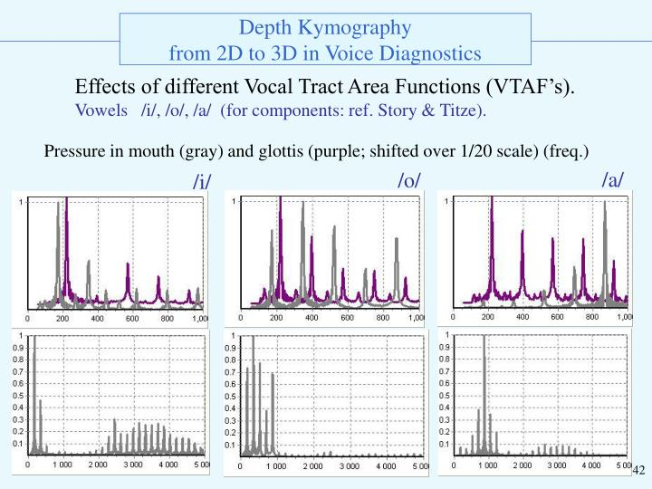 Effects of different Vocal Tract Area Functions (VTAF's).