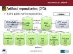 artifact repositories 2 3