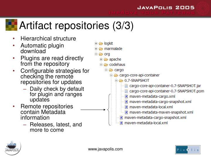 Artifact repositories (3/3)