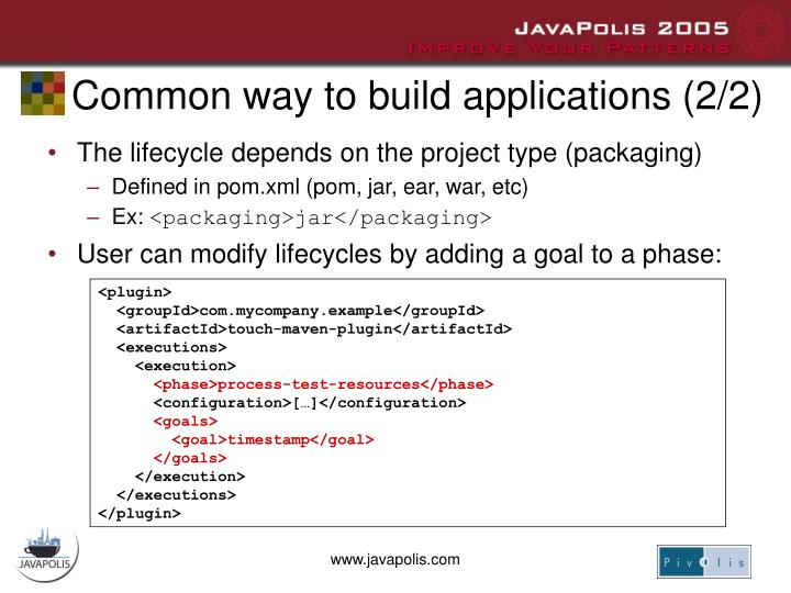 Common way to build applications (2/2)