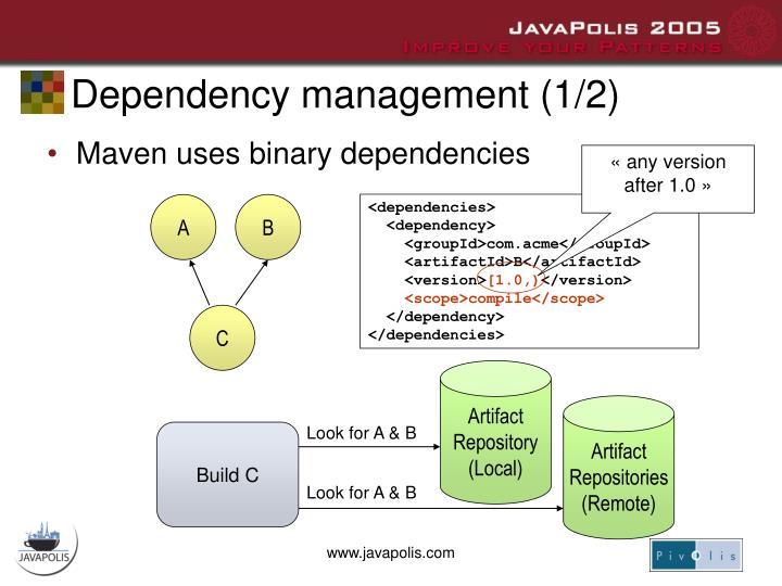 Dependency management (1/2)