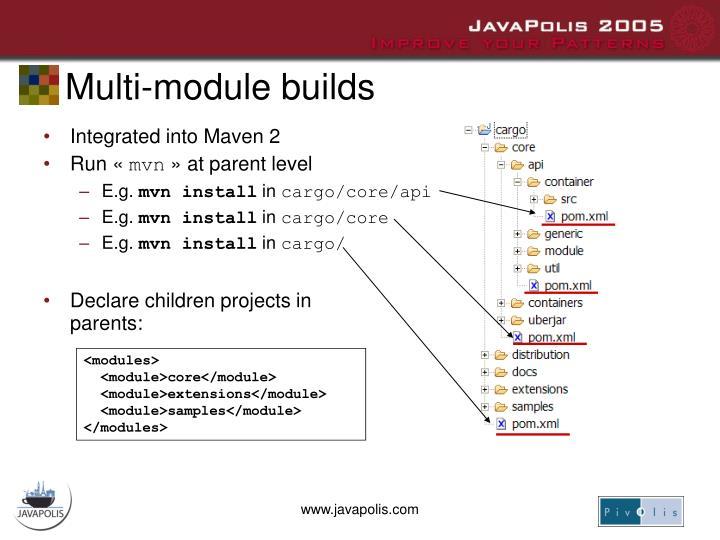 Multi-module builds