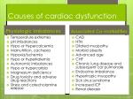 causes of cardiac dysfunction