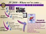 jv 2010 where we ve come