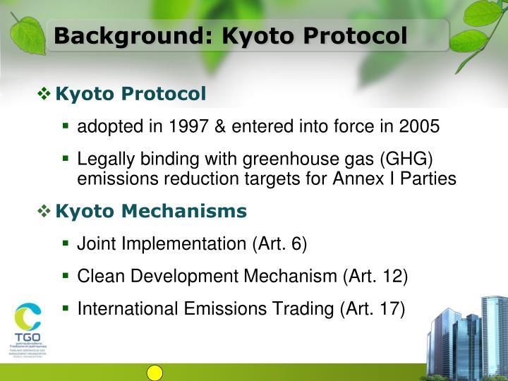 Background: Kyoto Protocol