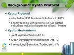 background kyoto protocol